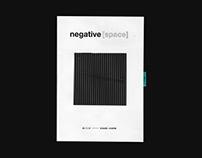negative space — event brochure