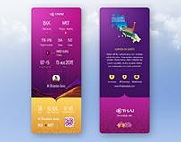 Thai Airways Ticket Redesign