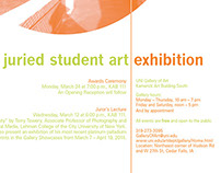 Annual Juried Student Art Exhibition Posters