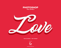 Free Love Photoshop Text Effect