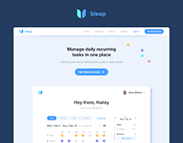 Daily Recurring Tasks Management Tool Dashboard