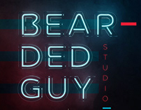 Beardedguy.Studio Neon Text