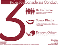 3 Rules for Considerate Conduct