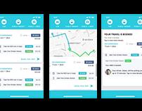 Uber + public transit booking concept
