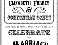 Torrey-Oates Wedding Invite
