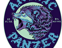 Arctic Panzer Wolf - Label and package Design