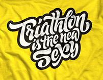 Triathlon lettering collection