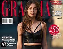 Actress Marie-Ange Casta for GRAZIA