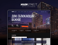 Mainstreet. Website for a residential complex