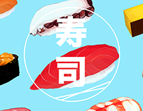 JIRO DREAMS OF SUSHI Illustrations