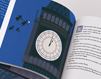 POCAHONTAS - PETER PAN   illustrated book