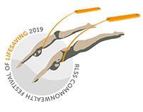Commonwealth Festival of Lifesaving 2019 Logo Graphic