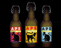 APE - home brewery / beer label design
