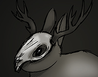 Art Prompt - Mythical Creature Seen in a Dark Light