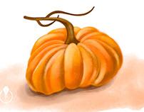 Hello Autumn - painting in Photoshop on iPad