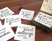 I Love You Because... (Custom Love Letter)