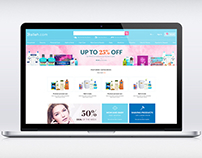 Cosmetic shop website