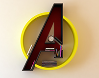Avengers, logo, shelf, interrior, library, bookshelf