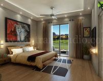 For Relaxing 3D Modern Bedroom Design View