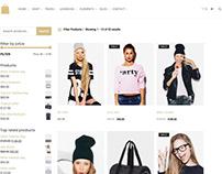 Shop Sidebar Page - Seller WordPress Theme