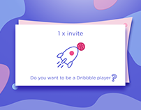 1 Dribbble Invite - Oct 2018