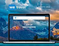 We Travel responsive website design