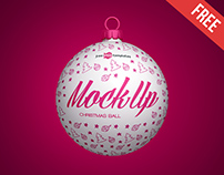Free Christmas Ball Mock-up in PSD