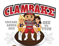 OSU Kappa Sigma Clambake T-Shirt Design