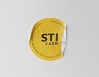 Simple Sticker Mockup