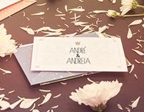 Convite de casamento Andreia & André