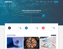 Disputo - WordPress bbPress Forum Theme
