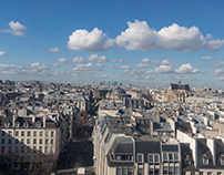 PARIS' ROOFS FROM INSIDE THE GEORGES POMPIDOU CENTER