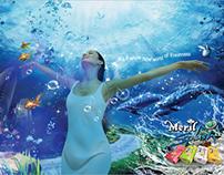 meril under water