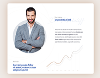 Free PSD - Investment landing page