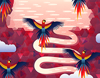 Ecosystems illustrations, and animations