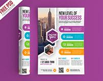 Free PSD : Multipurpose Business Flyer PSD Template
