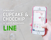 LINE - Cupcake and Chocchip stickers