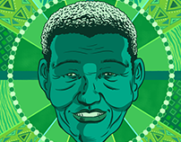 Nelson Mandela. Illustration.