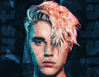 Justin Bieber - Poly Art