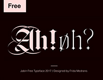Jabin Free Font and Variable Typeface