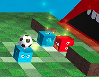 Cube Ball Game Art