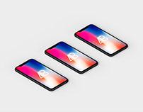 Isometric iPhone X Mockup Vol.4