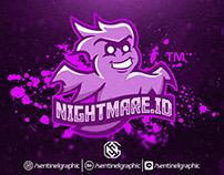 Ghost Mascot Sport Logo | Nightmare.ID Esports Logo