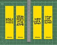 Marca páginas - Livraria Saraiva