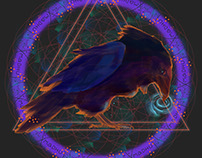 Raven Totem for Madhu (order for a totem design)