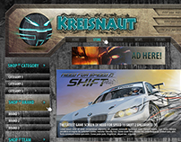 Kreisnaut Gaming Store Web Designs