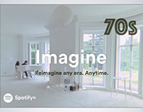 Spotify: Discover Any Era Print Ad Campaign