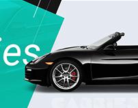 Car Rental Website Design | Premium Car rental website