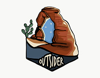 Outsider Sticker Concept