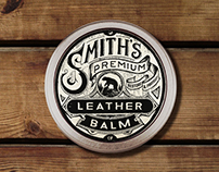 Leather balm logo / label concept